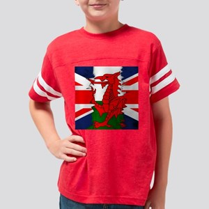 Welsh And Union Jack Flag Rip Youth Football Shirt