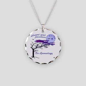 Haunt Your Ancestors Genealogy Necklace Circle Cha
