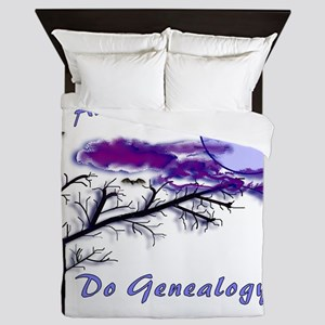 Haunt Your Ancestors Genealogy Queen Duvet