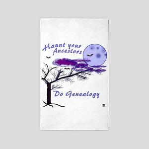 Haunt Your Ancestors Genealogy 3'x5' Area Rug