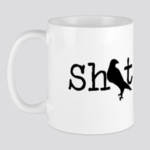 Shit Bird Black Mugs