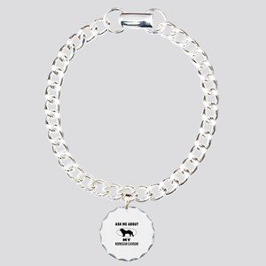 Ask Me About My Norwegian Elkhound Charm Bracelet,