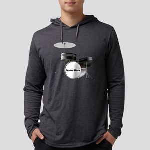 Drums Personalized Mens Hooded Shirt
