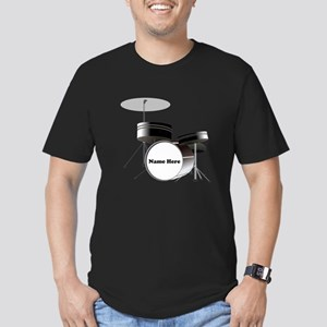 Drums Personalized Men's Fitted T-Shirt (dark)