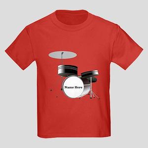 Drums Personalized Kids Dark T-Shirt