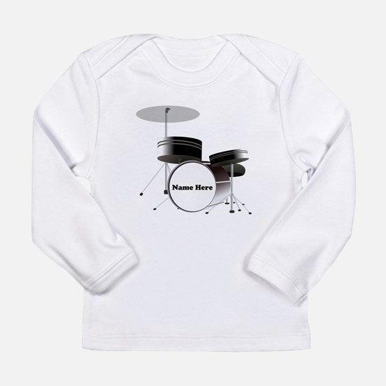 Drums Personalized Long Sleeve Infant T-Shirt