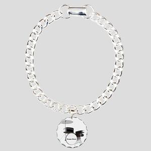Drums Personalized Charm Bracelet, One Charm