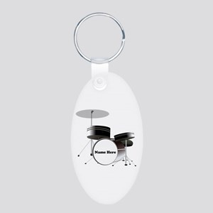 Drums Personalized Aluminum Oval Keychain