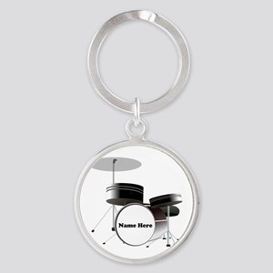Drums Personalized Round Keychain