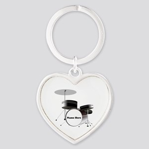 Drums Personalized Heart Keychain