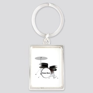 Drums Personalized Portrait Keychain