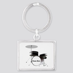 Drums Personalized Landscape Keychain