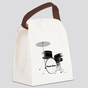 Drums Personalized Canvas Lunch Bag