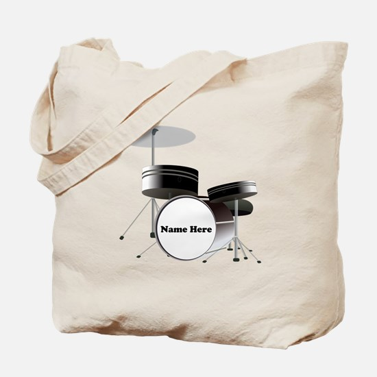 Drums Personalized Tote Bag