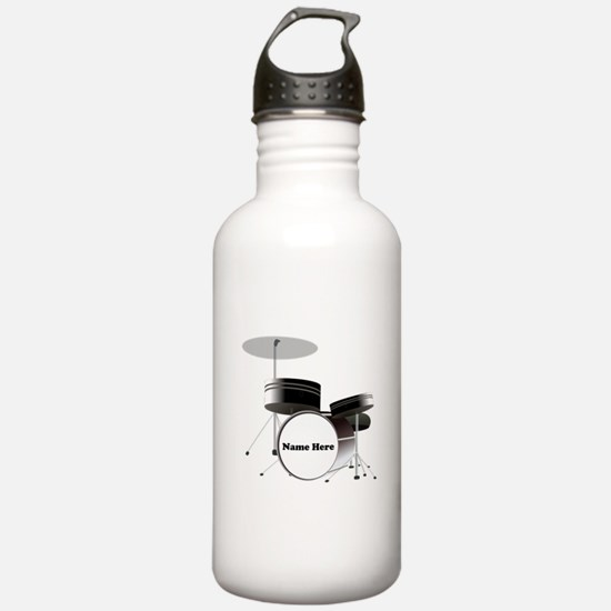 Drums Personalized Water Bottle