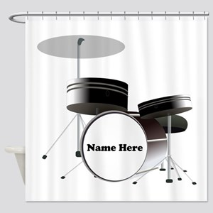 Drums Personalized Shower Curtain
