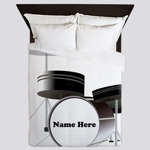 Drums Personalized Queen Duvet