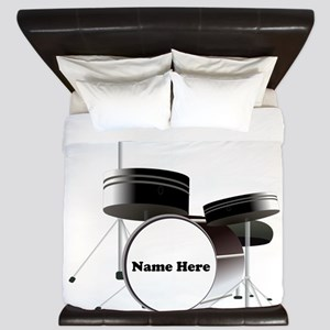 Drums Personalized King Duvet