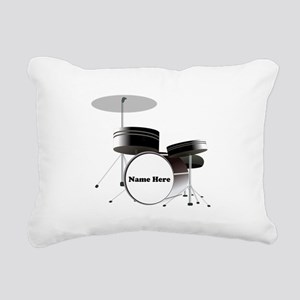 Drums Personalized Rectangular Canvas Pillow