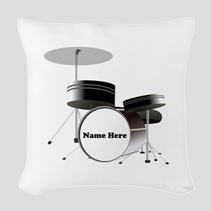 Drums Personalized Woven Throw Pillow