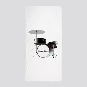 Drums Personalized Beach Towel