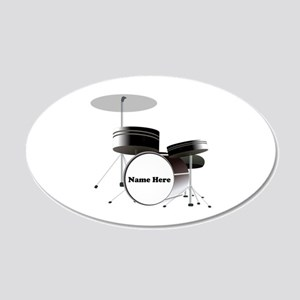 Drums Personalized 20x12 Oval Wall Decal