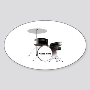 Drums Personalized Sticker (Oval)