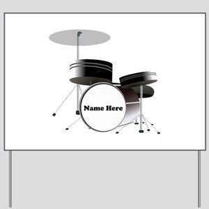 Drums Personalized Yard Sign