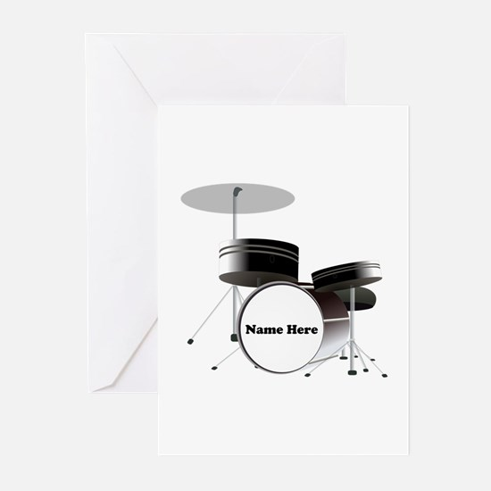Drums Personalized Greeting Cards (Pk of 10)