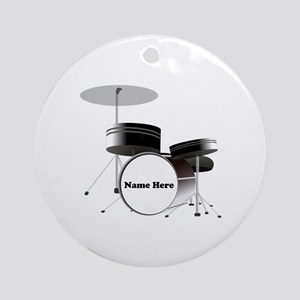 Drums Personalized Round Ornament