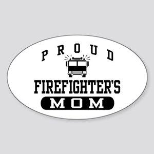 Proud Firefighter's Mom Oval Sticker