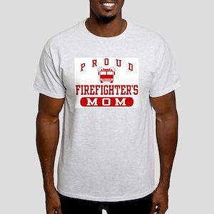 Proud Firefighter's Mom Ash Grey T-Shirt