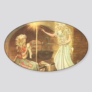 Vintage Cinderella Fairy Tale Sticker (Oval)