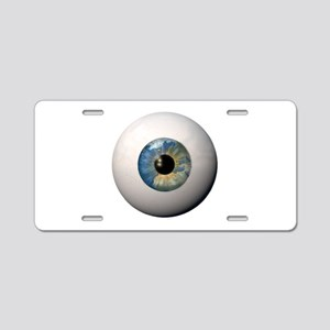 Earth Eyeball Aluminum License Plate