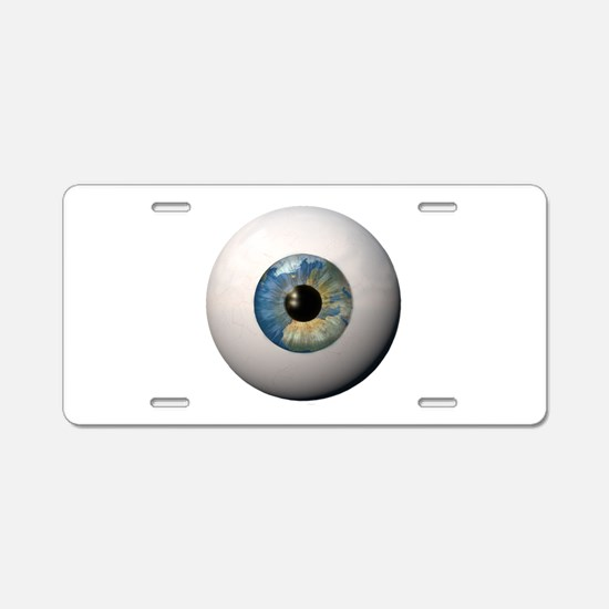 Earth Eyeball Aluminum License Plate