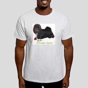Lhasa Apso Heart Love Valentine Ash Grey T-Shirt