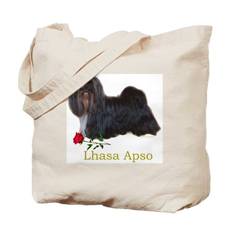 Lhasa Apso Heart Love Valentine Tote Bag