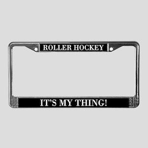 Roller Hockey License Plate Frame