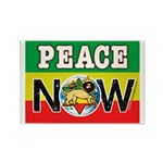 Rasta Peace Now Rectangle Magnet (100 pack)