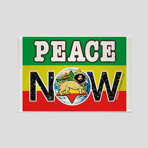 Rasta Peace Now Rectangle Magnet