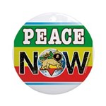 Rasta Peace Now Ornament (Round)