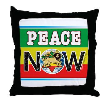 Rasta Peace Now Throw Pillow