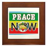 Rasta Peace Now Framed Tile