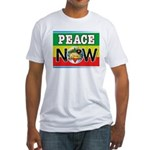 Rasta Peace Now Fitted T-Shirt