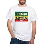 Rasta Peace Now White T-Shirt