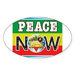 Rasta Peace Now Oval Sticker