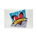 I Love You Rectangle Magnet (10 pack)