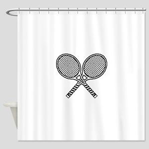 Tennis racket Shower Curtain