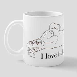 N Belly Rubs pup Mug