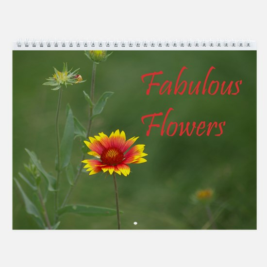 Fabulous Flowers Wall Calendar